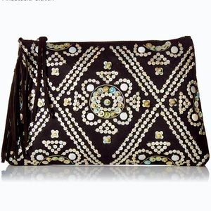 Sam Edelman Anastasia Beaded/Sequined Black Bag